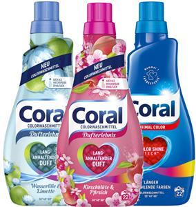 Coral Color Kolor Żel Prania 66pr 3,3L Zestaw DE