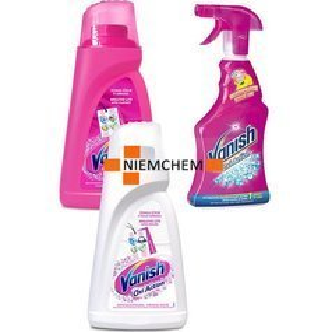 Vanish Zestaw Odplamiacz Płyn Pink White 2 x 1L + Spray 500ml