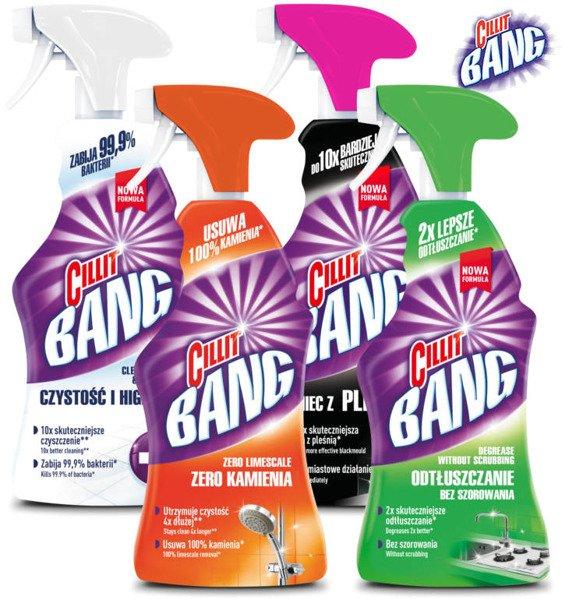 Cillit Bang Zestaw Spray Do Czyszczenia Kuchni łazienki 4szt