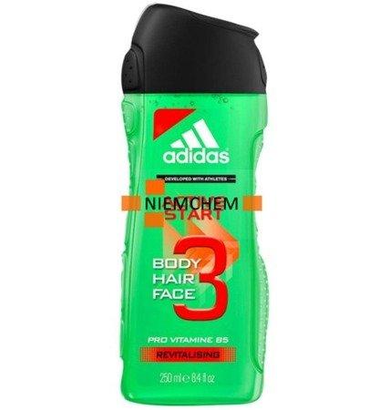 Adidas Active Start 3w1 Męski Żel i Szampon 250ml NL