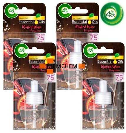 Air Wick Electrical Mulled Wine Grzane Wino Wkład 4 x 19ml