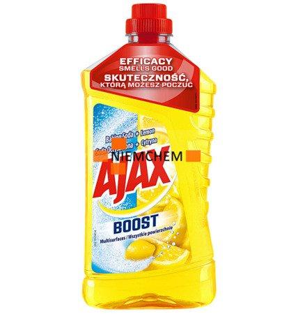 Ajax Boost Lemon Soda Płyn do Mycia Podłóg 1L WYPRZEDAŻ