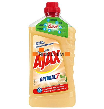 Ajax Optimal7 Migdał Płyn do Mycia Podłóg Drewna Parkietu 1L PL WYPRZEDAŻ
