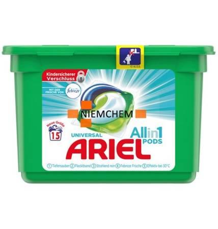 Ariel All-in-1 Febreze Kapsułki do Prania 15szt DE