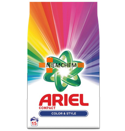 Ariel Color Compact Proszek Prania Kolor 15pr BE