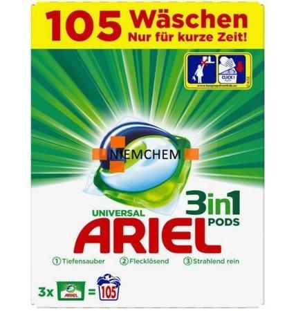 Ariel Universal BOX Kapsułki Prania 3w1 105szt DE