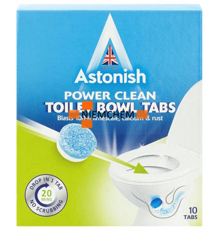 Astonish Toilet Bowl Cleaner Odkamieniacz Tabletki do Wc 10szt UK