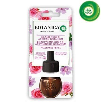 Botanica by Air Wick Electric Odświeżacz Powietrza Egzotyczna Róża i Afrykańskie Geranium Wkład 19ml