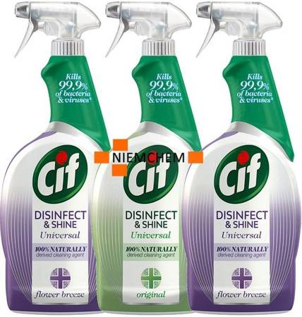 Cif Disinfect & Shine Mix Spray Antybakteryjny 3 x 750ml