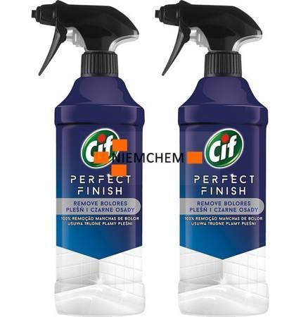 Cif Perfect Finish Pleśń i Czarne Osady Spray do Czyszczenia 2 x 435ml