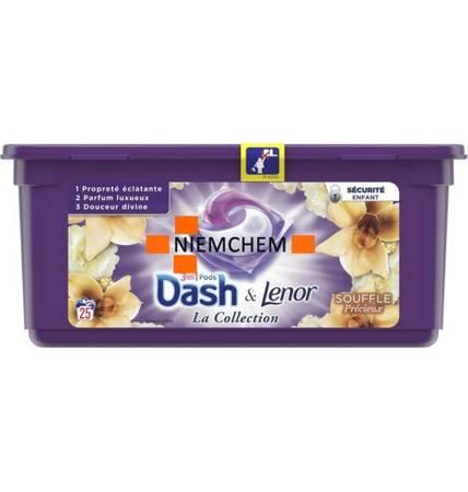 Dash Lenor 3w1 Souffle Precieux - Oddech Kapsułki do Prania 25szt FR