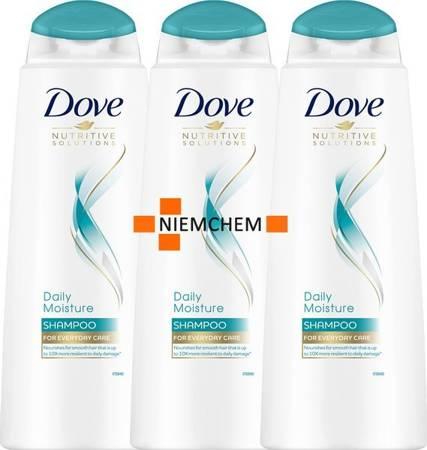 Dove Daily Moisture Szampon do Włosów Normalnych 3 x 400ml