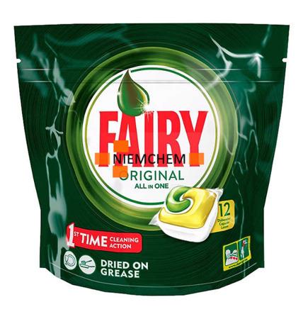 Fairy Lemon All-in-1 Tabletki do Zmywarki 12 sztuk UK NEW