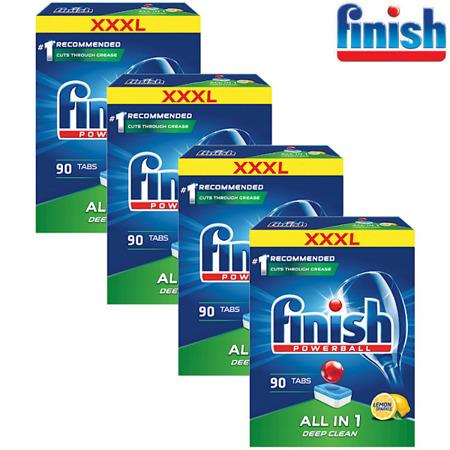 Finish All-in-1 Lemon Tabletki do Zmywarki 4x90= 360szt