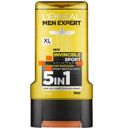 Loreal Men Expert Żel  pod Prysznic Invincible Sport 300 UK