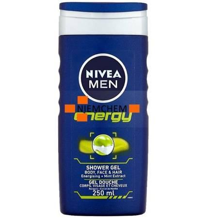 Nivea Men Energy Męski Żel pod Prysznic 250ml UK
