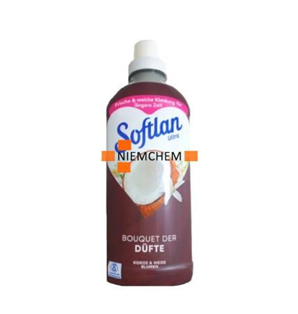 Softlan Kokos i Białe Kwiaty Płyn do Płukania 27pr 650ml DE