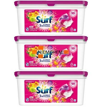 Surf Color Tropical Kapsułki Prania 3x 34 = 102szt