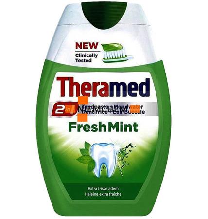 Theramed 2w1 Fresh Mint Pasta i Płyn do Zębów 75ml BE