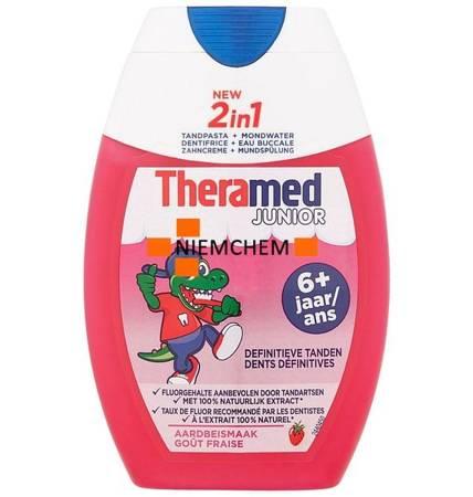 Theramed 2w1 Junior Truskawkowa Pasta do Zębów dla Dzieci 6+ 75ml BE