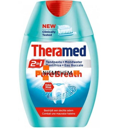 Theramed 2w1 Pure Breath Pasta do Zębów 75ml BE